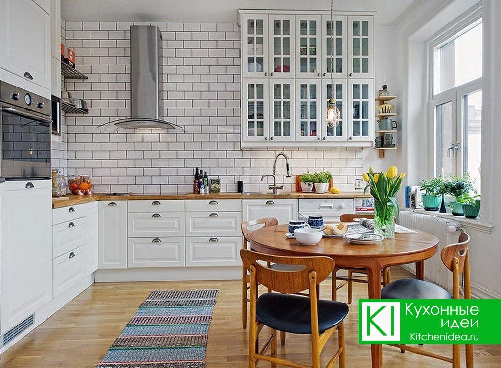 Кухня Белый снег
